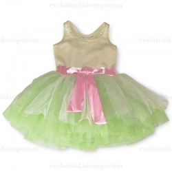 Ooh! La, La! Couture Pastel Green Grass Tie Bow Dress