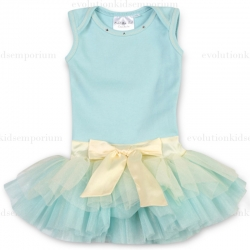 Ooh! La, La! Couture Baby Ice Tie Bow Baby Onesie Dress