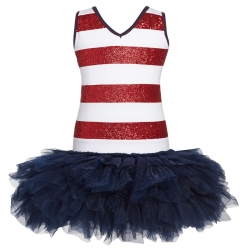 Ooh! La, La! Couture 4th of July Sequin Stripe Dress