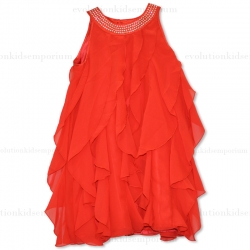 Blü by Blü Red Christmas Ruffle Dress