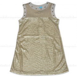 Blü by Blü Light Gold Christmas Tunic w/Studs