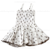 LoFff White & Grey Happy Dress
